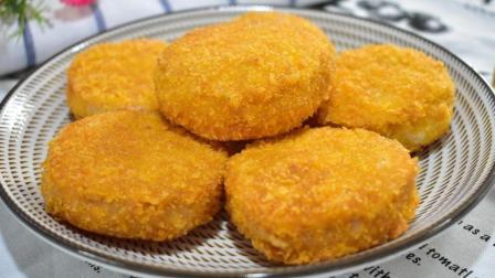 红薯新做法, 不碾碎, 不做丸子, 用整块红薯片, 做出超好吃的饼