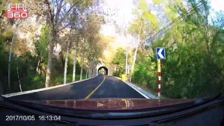 匀速行驶在燕山山脉里的穿山公路上