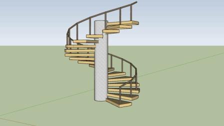 新手如何不使用插件绘制旋转楼梯