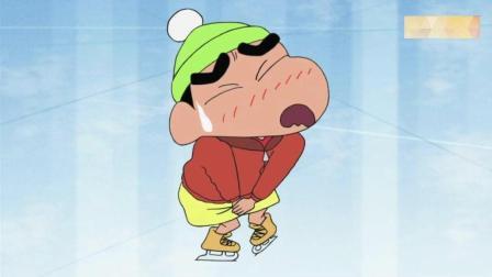 松阪老师看到别人手拉手滑冰很不爽, 直接把别人双手拉开