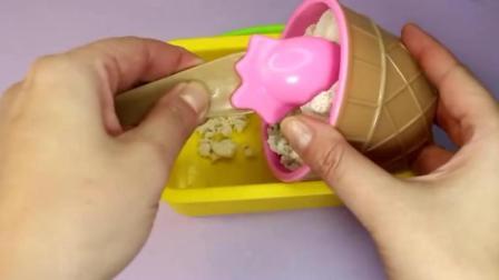 做1支香蕉冰淇淋蛋卷给宝宝吃的过家家玩具故事