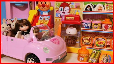 森贝儿家族来面包超人便利店购物玩具故事