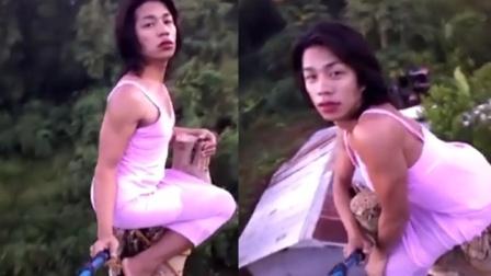 为了走红也是拼了!菲律宾人妖爬上大树用生命自拍