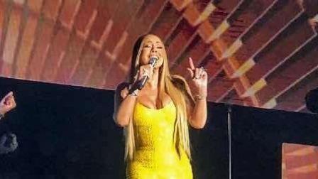 玛丽亚凯莉台湾开唱激爆上围 大飙海豚音歌迷醉了