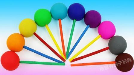 彩虹棒棒糖变身七彩小印章? 儿童色彩认知游戏, 培养宝宝想象力!