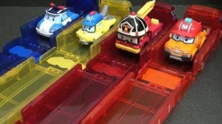 变形小车和基地车库玩具