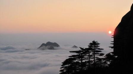 不想起早看黄山日出的, 来看看黄山夕阳