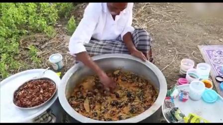 印度大爷又来做饭了, 这次做一盆茄子