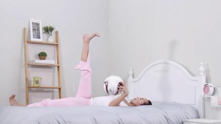 睡前来点床上瑜伽, 瘦腰瘦腿又美臀, 3分钟就搞定了