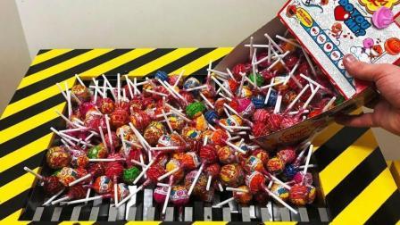 300根棒棒糖, 放进粉碎机会发生啥? 看到它的惨状, 你还敢吃吗?