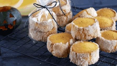 美味香酥的南瓜糖饼干, 可以作为小礼物的甜品