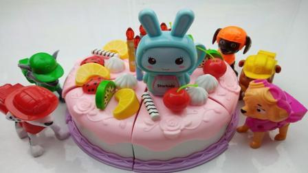 汪汪队: 生日快乐, 儿童水果生日蛋糕玩具