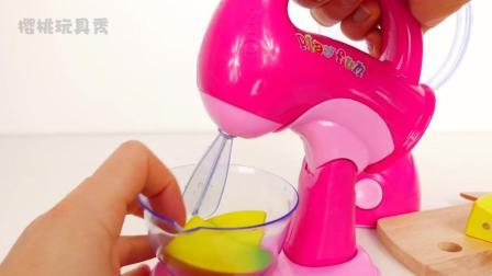 樱桃玩具秀: 仿真儿童厨房混合器糖果玩具分享