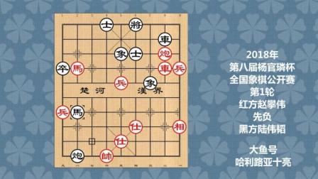 2018年第八届杨官璘杯全国象棋公开赛第1轮, 赵攀伟先负陆伟韬