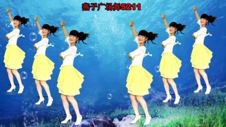 燕子广场舞5211《尕撒拉》演唱: 中国红 简单24步 附分解