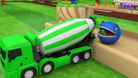汽车总动员 小猪佩奇开挖土机推土机33