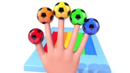 宝宝学颜色, 手指小足球, 不同的色彩, 猴宝宝玩的超开心