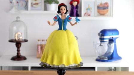 迪士尼超美腻的白雪公主翻糖蛋糕做法来啦! 快做个给女儿当惊喜吧