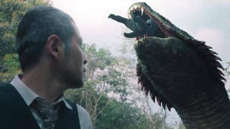 日本兵来到中国原始森林, 遇到超级巨蟒, 大蛇这下吃撑了!