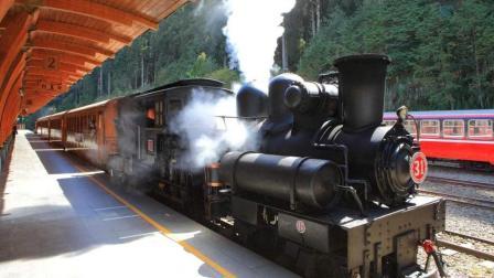 可爱又复古! 烧煤的蒸汽火车都是这样进站的吗?