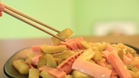 酸黄瓜炒火腿这样做是真好吃, 做法简单口感没的说