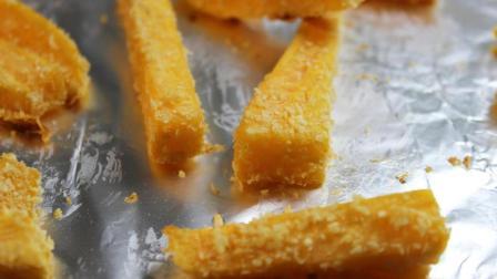 无添加椰蓉红薯条的做法 不打发不油炸 孩子大人都能吃