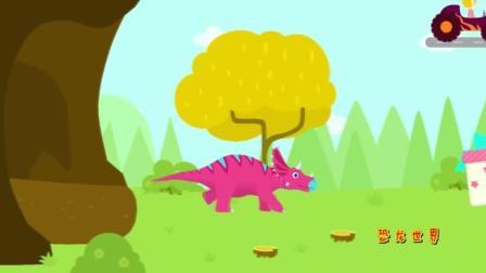 恐龙考古学家 侏罗纪 三角龙化石挖掘