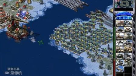 红色警戒 尤里的复仇 北极圈1v7冷酷 开局就把一家占领了 科技天启海谁与争锋!
