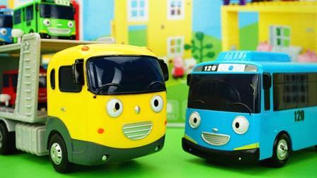 TAYO小巴士大号托运车儿童玩具故事