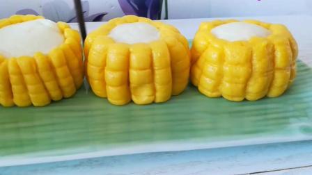玉米馒头的做法, 和面不用一滴水, 香甜松软, 比普通馒头好吃多了