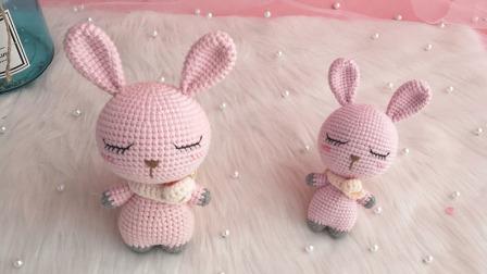 【汤小仙手作】第38集 大头动物系列—兔子玩偶教程