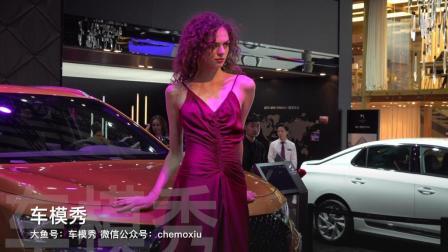 ⎡车模秀⎦DS汽车展台车模走秀.2018成都车展