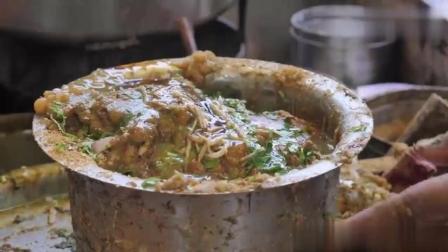 实拍印度很火的街边小吃, 别看不怎么卫生但得排队才能吃!