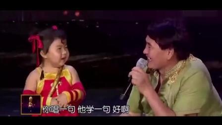 朱之文央视舞台拜4岁萌娃为师, 现场教学, 大衣哥也有萌的一面!