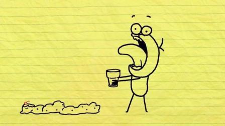 为了吃到冰淇淋连尊严都不要了, 铅笔人装成狗在地上舔至于吗? 搞笑铅笔动画