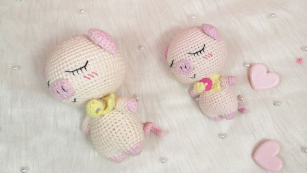 【汤小仙手作】第43集 大头动物系列—小猪玩偶教程