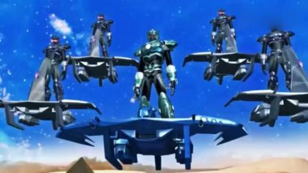 《超兽武装》火麟飞被逼行, 未曾想云蝠战队也能进行超兽武装