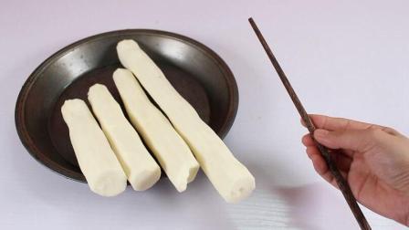 山药去皮不用戴手套, 只需一根筷子就搞定, 这样去皮手一点都不痒