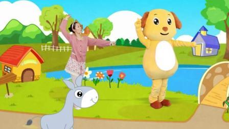 多吉律动儿歌:调皮的小毛驴让宝宝哗啦啦摔了一身泥