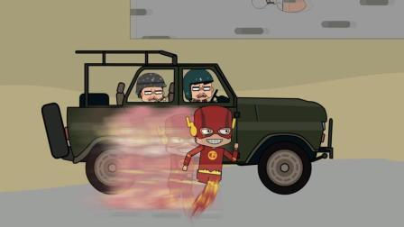 吃鸡搞笑动画: 妹子落地拿下双杀, 却遇到子弹都追不上的闪电挂!