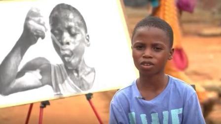 这个小男孩的画,看了让人想流泪...
