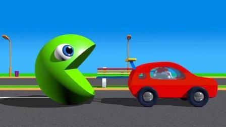 吃豆人吃汽车身体染色学颜色