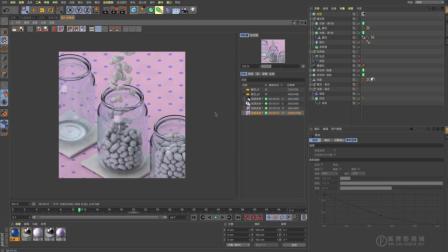 C4D中文教程 - 糖豆 - 05 材质(包含R20节点材质)和渲染(动力学动画R20节点材质)