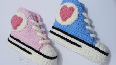 凡妈手作第30集宝宝运动鞋爱心运动鞋新手编织视频创意编织