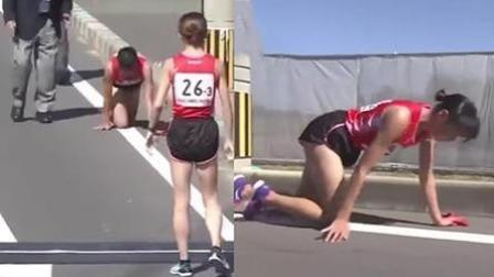 日本女选手骨折后咬牙爬到接力点 网友心疼: 敬佩但不赞同