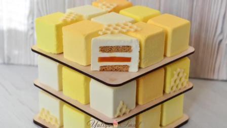 蛋糕魔方 蜂蜜南瓜 立体慕斯蛋糕