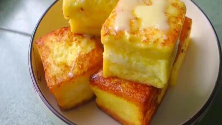 一个鸡蛋, 半杯牛奶, 教你做奶香皮酥的一口西多士! 一口一个
