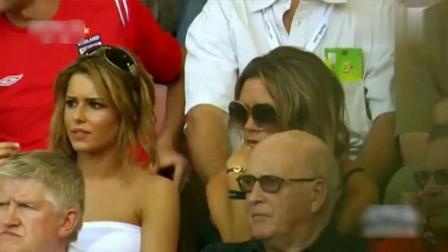 贝克汉姆世界杯最后一球! 看台上的贝嫂激动得蹦起来!