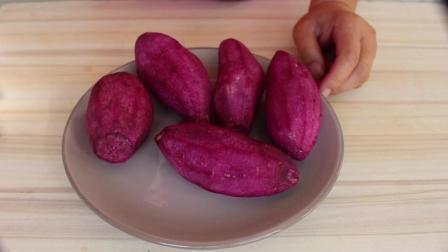 用紫薯做的馒头花, 蒸熟了以后大变样, 好看的你意想不到