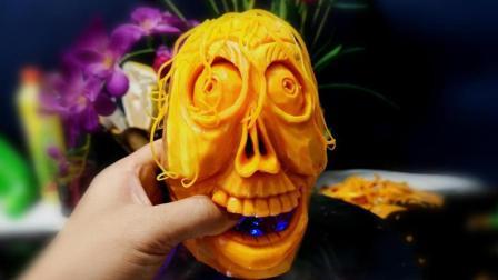 万圣节, 南瓜制作全过程分享, 这雕刻水平我给99分!